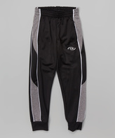 CB Sports Black & White Track Pants - Kids & Tween