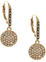 Judith Jack Crystal, Marcasite and Goldplated Sterling Silver Disc Drop Earrings