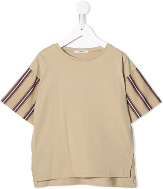 Fith crew neck striped sleeve T-shirt