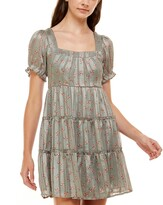 Thumbnail for your product : Trixxi Juniors' Printed Tiered Dress