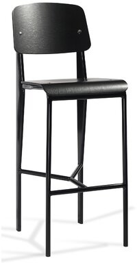 Industrial Modern Prouve Bar Color: Black