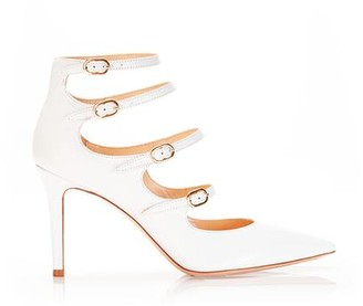 Marion Parke Mitchell White | Leather Strappy Mary Jane Stiletto Pump