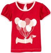 Kickee Pants Piece Print Puff Tee (Baby) - Balloon Pup-3-6 Months