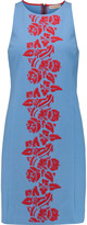 Tory Burch Ashlee embroidered stretch-cotton jersey dress