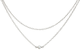 Dogeared Pearls of Happiness Double Chain Necklace, Silver