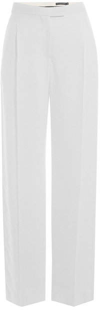 Alexander McQueen Wide Leg Pants with Tonal Pattern