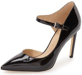 YDN Women's D'orsay Pointed Toe Pumps with Ankle Strap High Heel Stilettos Mary Jane With Buckle 4