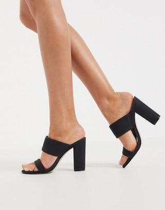 Call it SPRING by ALDO Falelia perspex heeled sandal in black