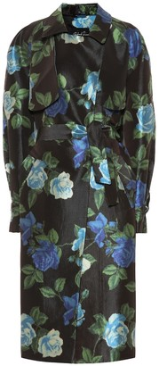Richard Quinn Floral satin trench coat