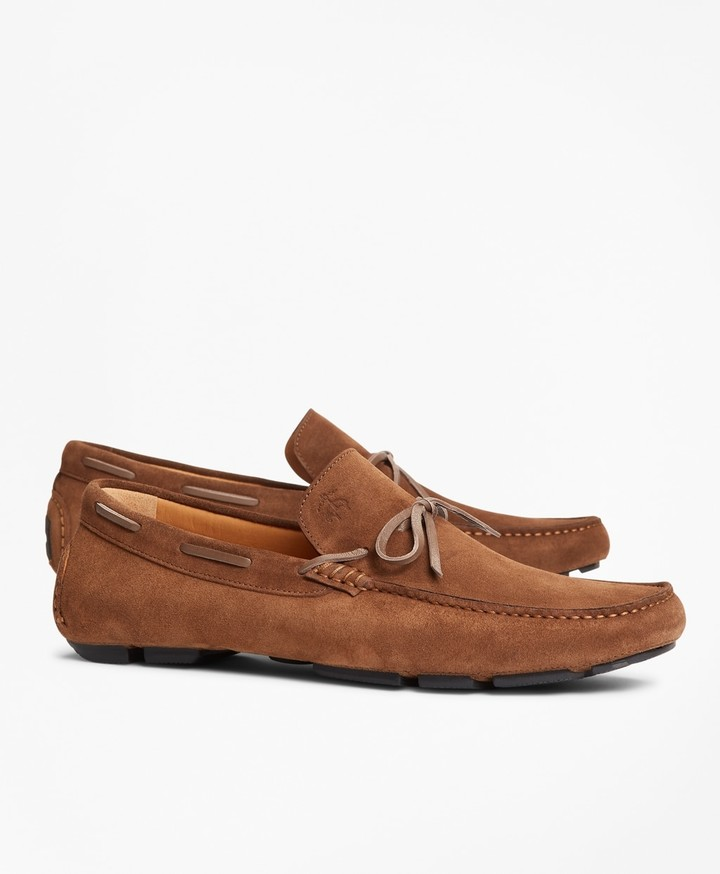 Brooks Brothers Suede Driving Moccasins