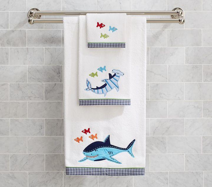 Pottery Barn Kids Shark Bath Towel Collection