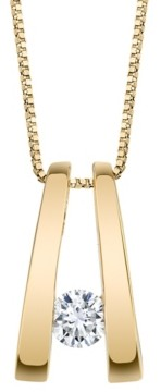 Sirena Diamond (1/5 ct. t.w.) Twizzler Pendant in 14k White Gold or Yellow Gold