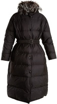 Prada Hooded fur-trimmed quilted-down coat