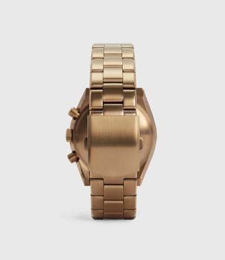AllSaints Subtitled VI Khaki Stainless Steel Watch