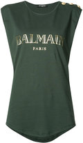 Balmain logo T-shirt - women - Cotton - 36