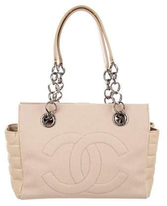Chanel Canvas CC Chain Tote