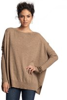 sable cashmere ballet neck blanket sweater