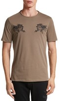 The Kooples Men's Embroidered Dragon T-Shirt