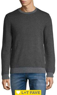 Black & Brown Black Brown Jacquard Italian Merino Wool Sweater