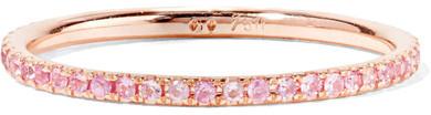 Ileana Makri Thread 18-karat Rose Gold Sapphire Ring - 52