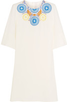 Peter Pilotto Athena Embroidered Crepe Tunic - Ivory