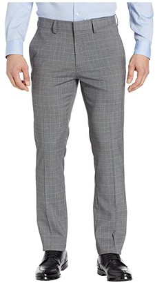 Kenneth Cole Reaction Stretch Grid Slim Fit Dress Pants (Heather Grey) Men's Casual Pants