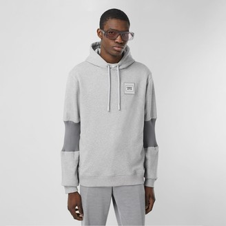 Burberry Panelled-sleeve Cotton Hoodie