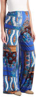 Glam Royal & Brown Abstract Palazzo Maternity Pants