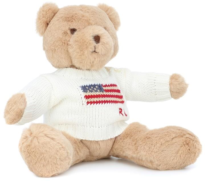 Polo Ralph Lauren Kids Small Flag Jumper Polo teddy bear