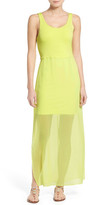 Vince Camuto Chiffon Overlay Tank Dress (Regular & Petite)