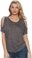 Juicy Couture Women's Marled Cold-Shoulder Tee
