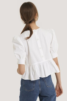 NA-KD Cotton Puff Sleeve Blouse