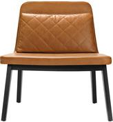 Houseology addinterior LEAN Chair Cognac Leather - Black Oak Legs & Dark Brown Cushion