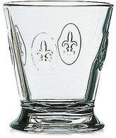 French Home La Rochère Glassware, Set of 6 Fleur De Lys Double Old-Fashioned Glasses