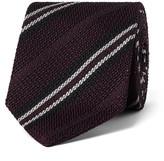 Drakes Drake's - 8cm Striped Woven Silk Tie