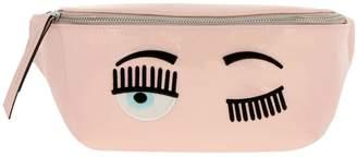 Chiara Ferragni Belt Bag Flirting Belt Bag In Patent Leather With Maxi Embroidery Eyes Flirting