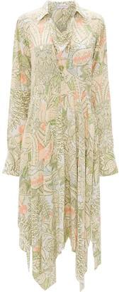 J.W.Anderson Asymmetric Floral Shirt Dress