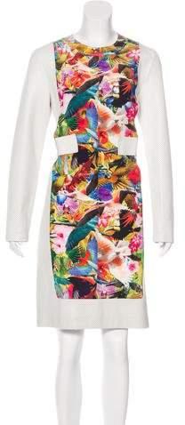 Altuzarra Silk & Leather-Trimmed Dress w/ Tags