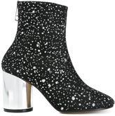 Maison Margiela metallic splatter ankle boots - women - Leather/Nylon - 36