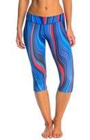 Speedo Women's Red, White & Blue Printed Capri 8146985