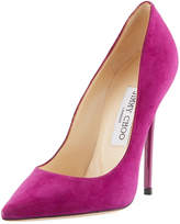 Jimmy Choo Anouk Suede Pointed Pump