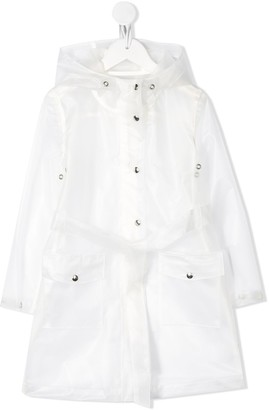 The New Society Imper transparent hooded raincoat