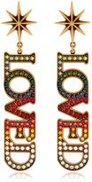 Gucci Loved Crystal Clip-On Earrings