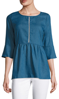 Lucca Couture Flared Cuff Denim Tunic