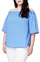 Rachel Roy Plus Size Women's Smocked Off The Shoulder Top