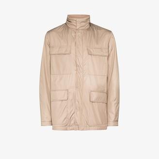 Canali Multi-Pocket Hooded Jacket