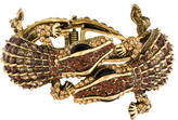 Kenneth Jay Lane Double Lizard Crystal Cuff