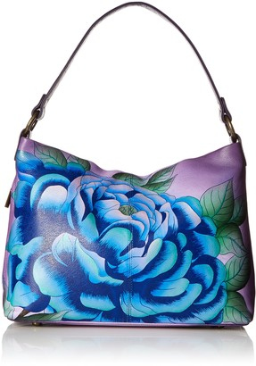 Anna by Anuschka Women's Hand Painted Leather Large Shoulder Hobo