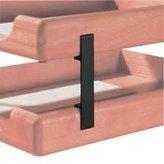 Eldon Rolodex Metal Desk Tray Supports For Wood Tones Series Tray, Black, 4/Set Eld23386