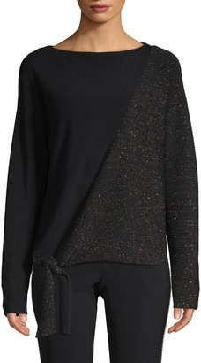 Lafayette 148 New York Tie-Front Pullover